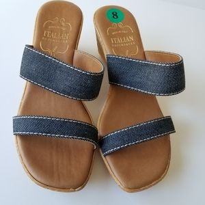 Italian Shoemakers Wedge Sandals